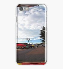 Abstract fish eye city landscape iPhone Case/Skin