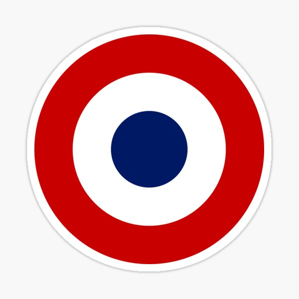 French army roundel / Cockade of the French army Sticker