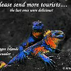 Please Send More Tourists - Marine Iguana by Al Bourassa
