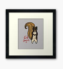 The Nerdy Book Smart Squirrel  Framed Print