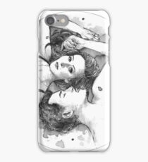 The Things We Say (BW) iPhone Case/Skin