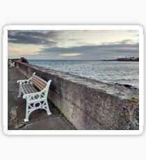 Bench at Anstruther Sticker