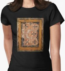 medieval wood painting Women's Fitted T-Shirt