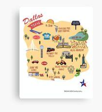 Dallas Texas tees Canvas Print