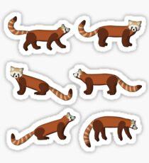 roter Panda Sticker