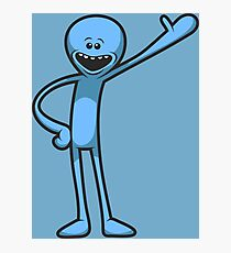 -RICK AND MORTY- Mr Meeseeks  Photographic Print