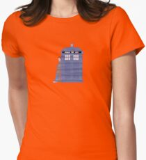 The Doctor And TARDIS  Womens Fitted T-Shirt