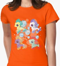 my little pony baby sea ponies Womens Fitted T-Shirt