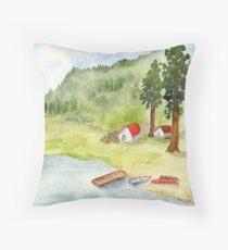 Campers Delight - Alta Lake, WA Throw Pillow