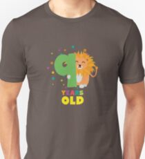 Nine Years 9th Birthday Party Lion R0da9 Unisex T-Shirt