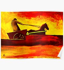 Horse and cart Poster