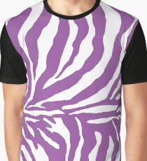 Zebra Print - Purple and White Graphic T-Shirt