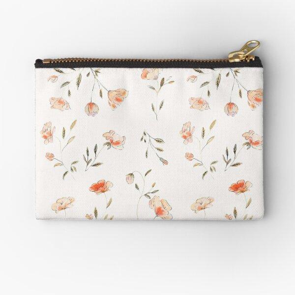 Watercolor Floral Pattern Zipper Pouch