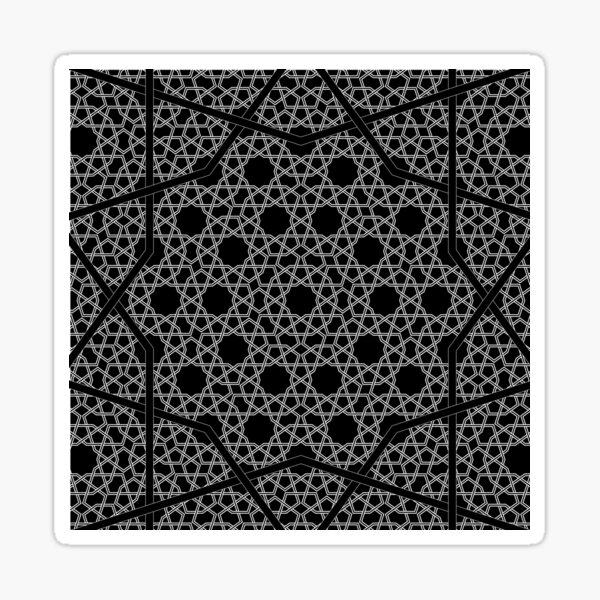 Persian King Pattern - Black Sticker