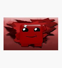 Super Meat Boy: The Meaty Platforming Hero! (Print Version) Photographic Print