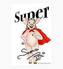 Super Pig  Photographic Print
