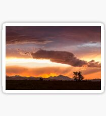 Colorful Colorado Front Range Summer Night Sticker