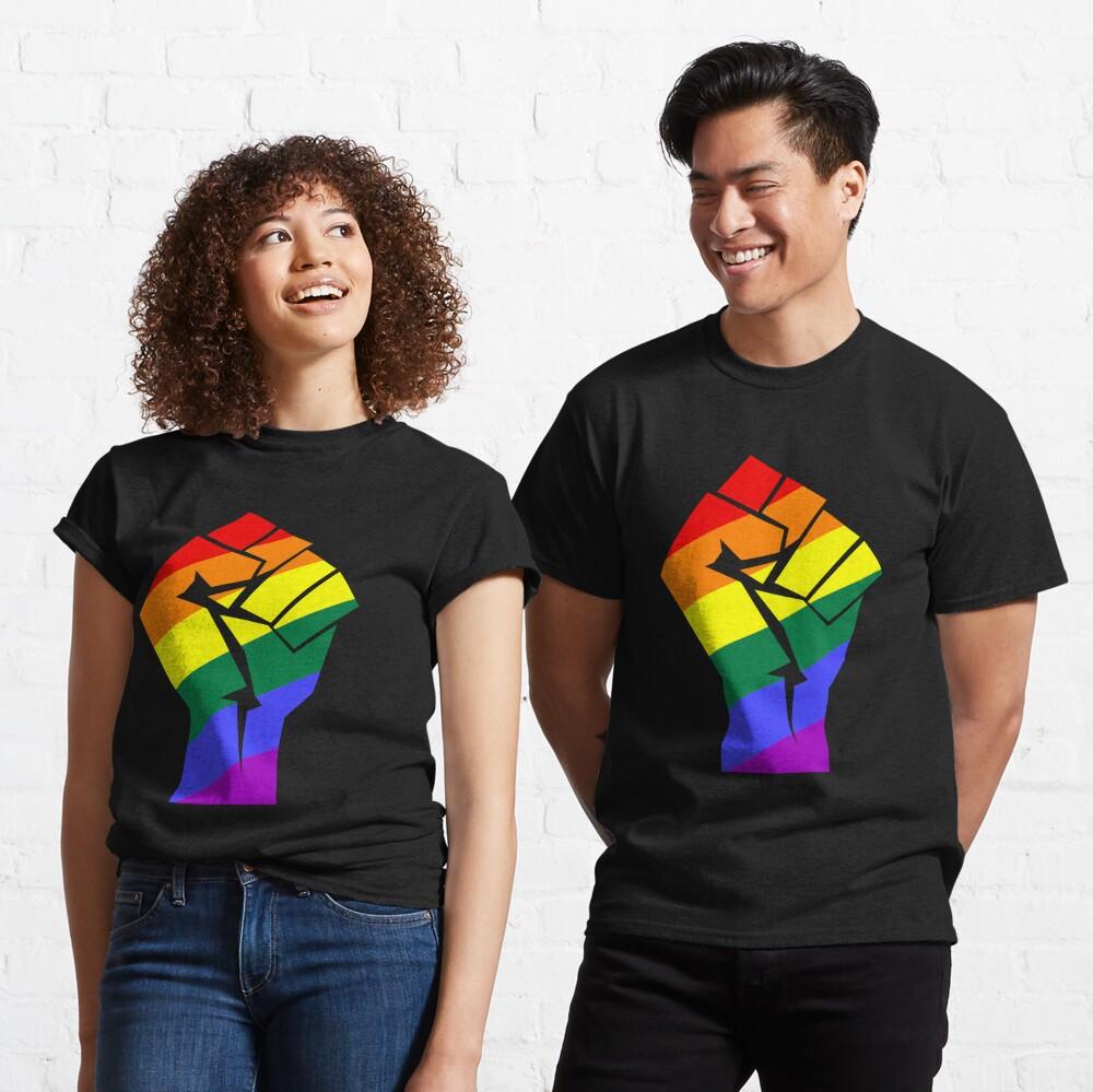 Resist - Pride Rainbow Flag Fist LGBT Classic T-Shirt
