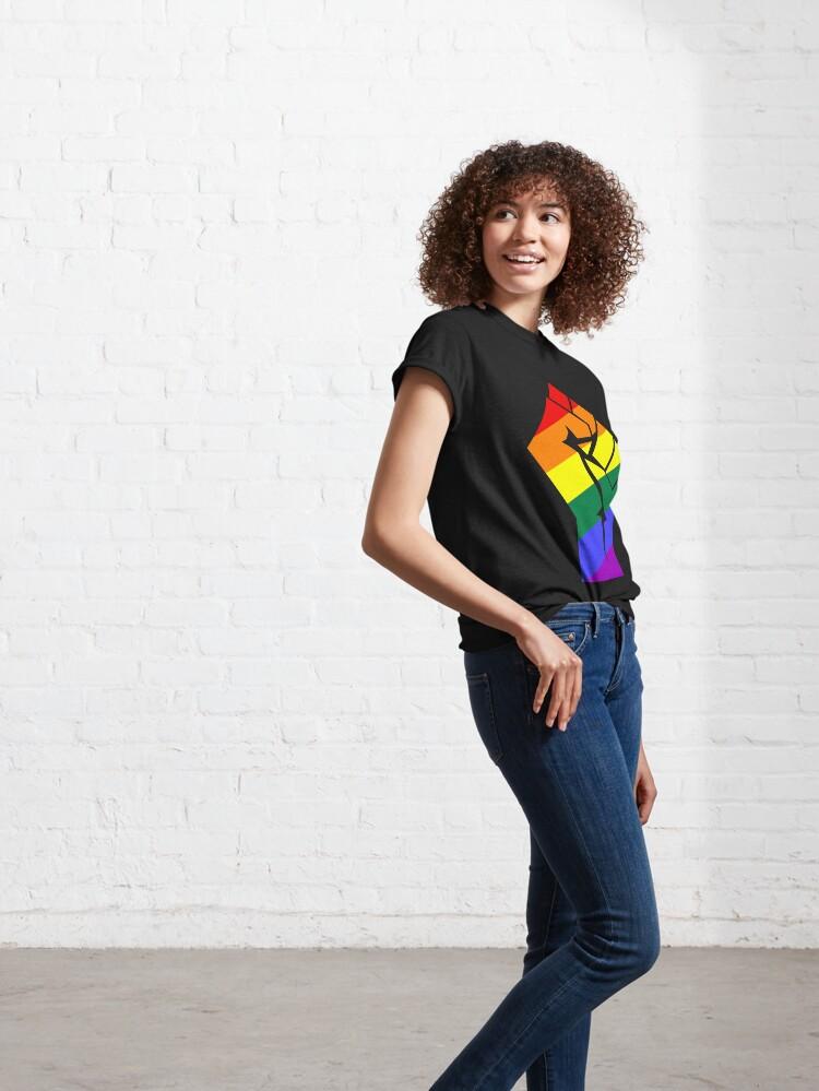 Alternate view of Resist - Pride Rainbow Flag Fist LGBT Classic T-Shirt