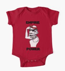 Empire Girl Power Watercolor PinUP Star Wars stormtrooper One Piece - Short Sleeve
