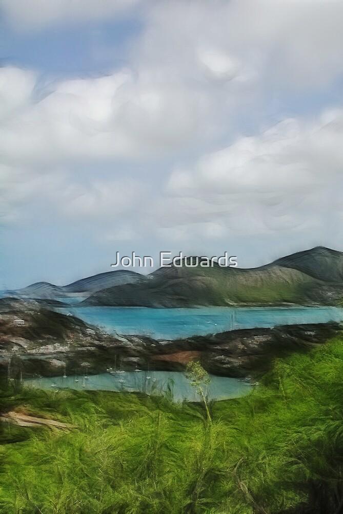 English Harbour, Antigua by John Edwards