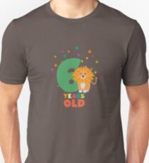 Six Years sixth Birthday Party Lion Rhpbx Unisex T-Shirt