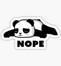 NOPE - Depressed Panda Sticker