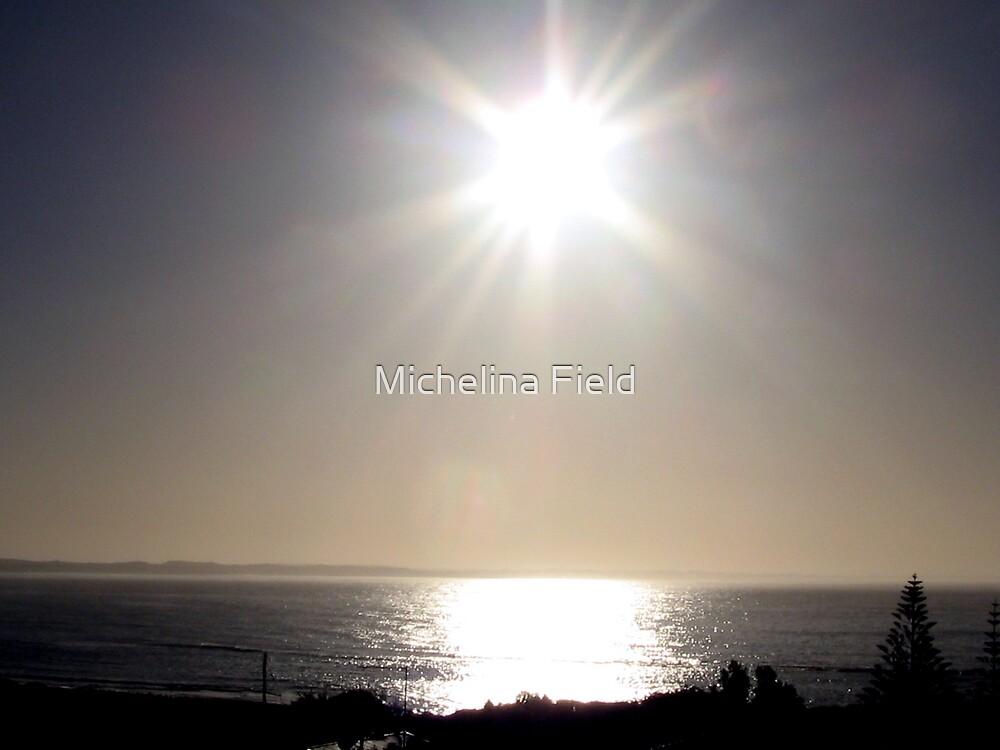 sunrise over the ocean Augusta Western Australia by Michelina Field