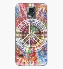 Retro Krawatten-Friedenszeichen-psychedelischer Entwurf Hülle & Klebefolie für Samsung Galaxy