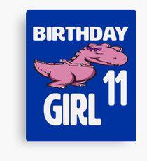 Dabbing Dinosaur 11th Birthday Girl Canvas Print