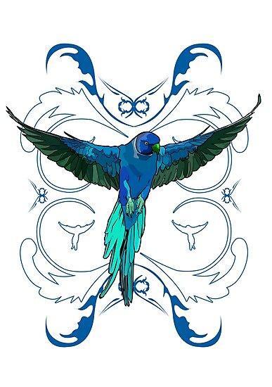 Blue Parrot 2 by Adam Santana