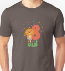 Eight Years 8th Birthday Party Lion Rgwku Unisex T-Shirt