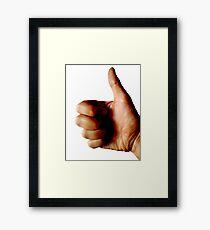 Thumbs Up Regular Photography Framed Print