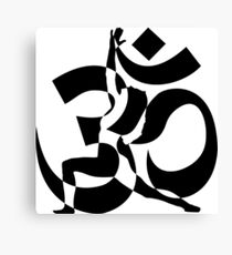 yoga ohm Canvas Print