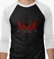 Guns and Roses Red (Pattern 2) Men's Baseball ¾ T-Shirt
