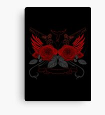 Guns and Roses RED 2 Canvas Print