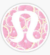 Pink Grapefruit Lululemon Sticker