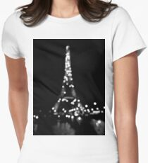 Blurry night Womens Fitted T-Shirt
