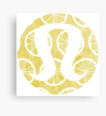 Watercolor Lemons Lululemon Canvas Print