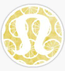Watercolor Lemons Lululemon Sticker