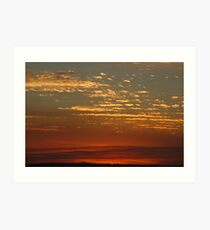 Late Afternoon Clouds Art Print