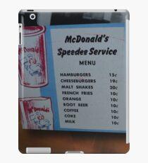 McDonalds Menu  iPad Case/Skin