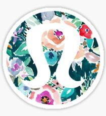 Watercolor Floral Lululemon Sticker