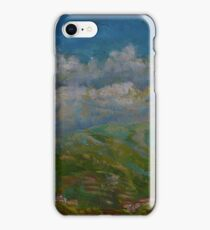 """Oil Paintng - Foothill Town 2017 11""""x14"""" iPhone Case/Skin"""