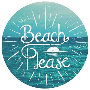 Beach Please Circle by annmariestowe