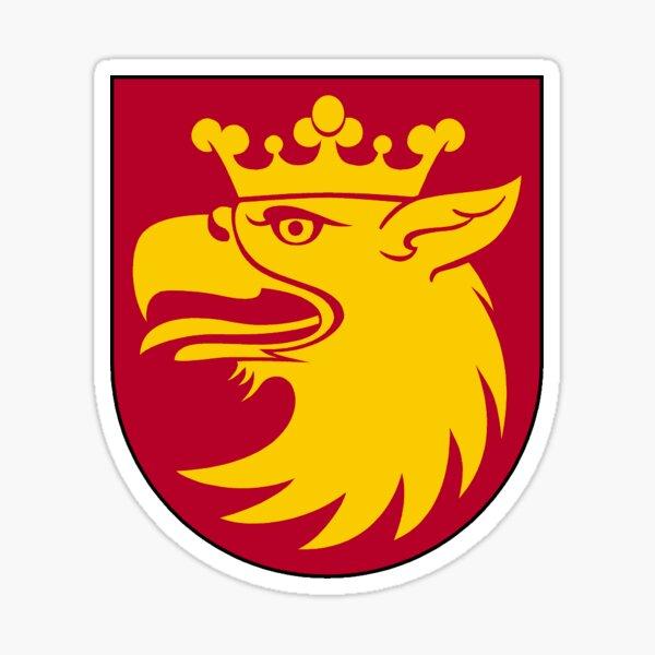 Escudo de armas del condado de Skåne, Suecia Pegatina