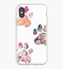 Floral Paw Print Trio iPhone Case