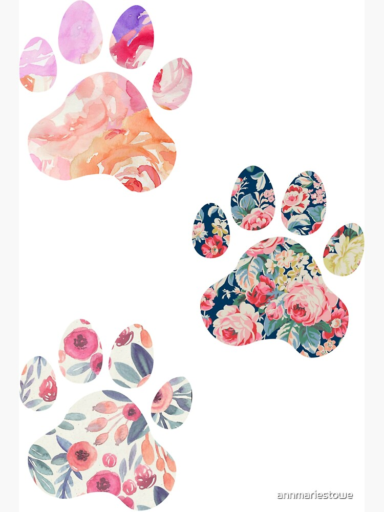 Floral Paw Print Trio de annmariestowe