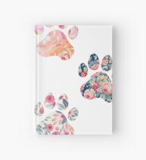 Floral Paw Print Trio Hardcover Journal
