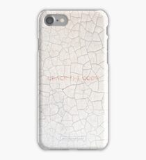 Crack The Code. Cracked Paint on the Wall Pattern iPhone Case/Skin